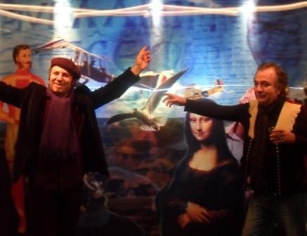 Sanatç? Bahri Genç ile ben Mona Lisa tablosunday?z.jpg